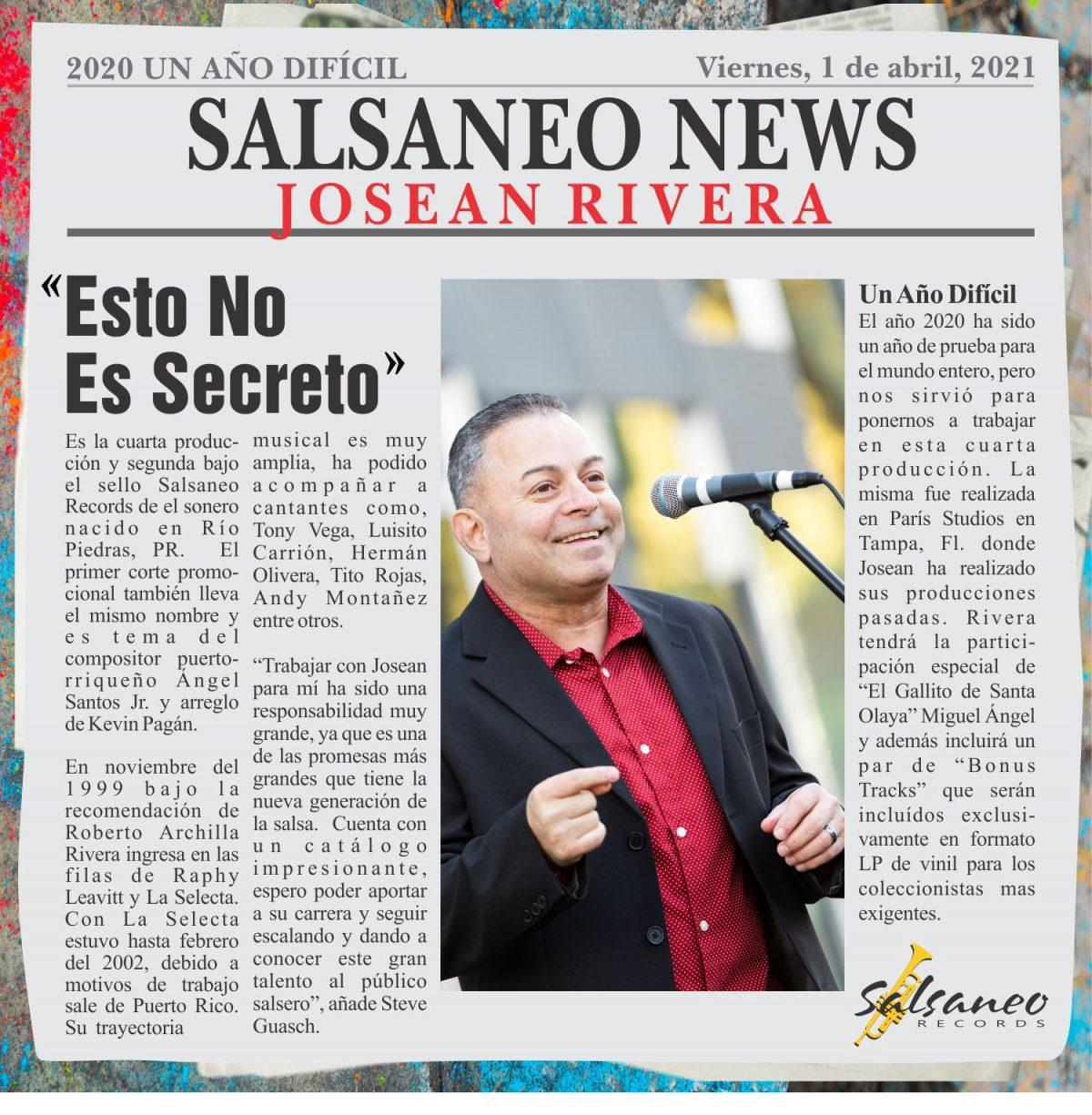 ESTO NO ES SECRETO -Josean Rivera